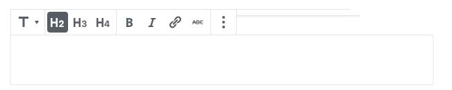 Screenshot des neuen Eingabefeldes für eine Überschrift.