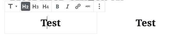 Screenshot der Eingabemaske für die Eingabe zweier Überschriften in der Spaltenansicht.